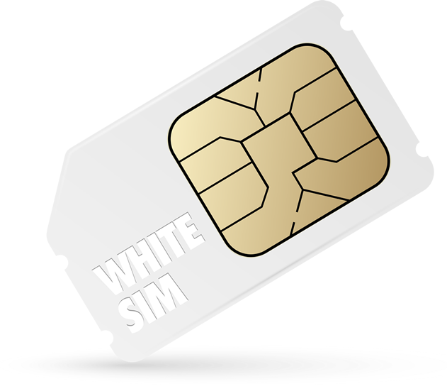 White Pre Paid SIM Card