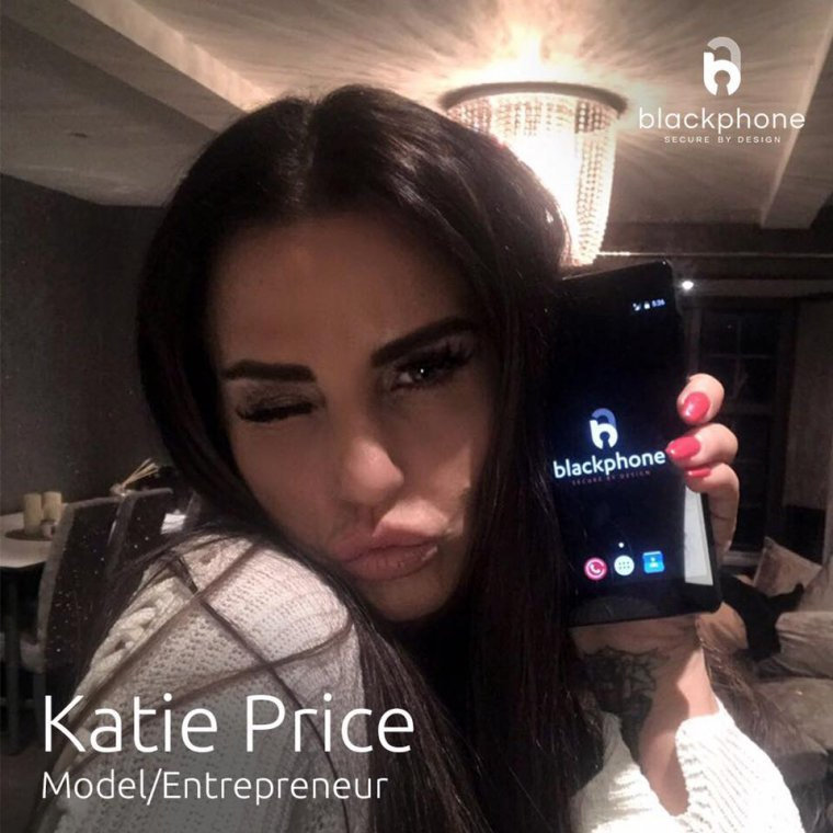 Katie Price buys a Blackphone 2