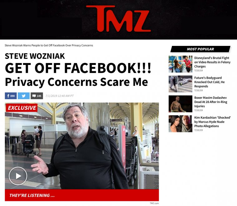 Steve Wozniak says get off facebook