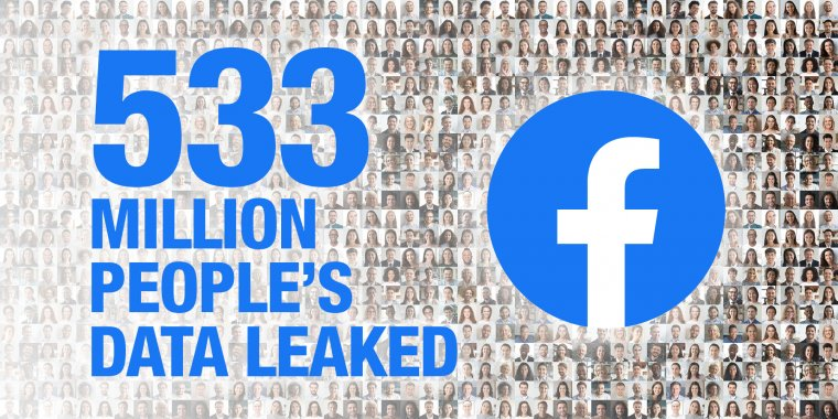 533 million people's data leaked from Facebook